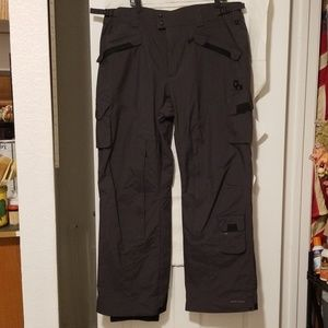 Columbia, Mens, waterproof pants, black and gray,